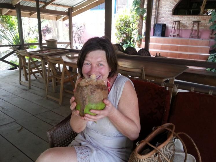 Frisches Kokosnusswasser